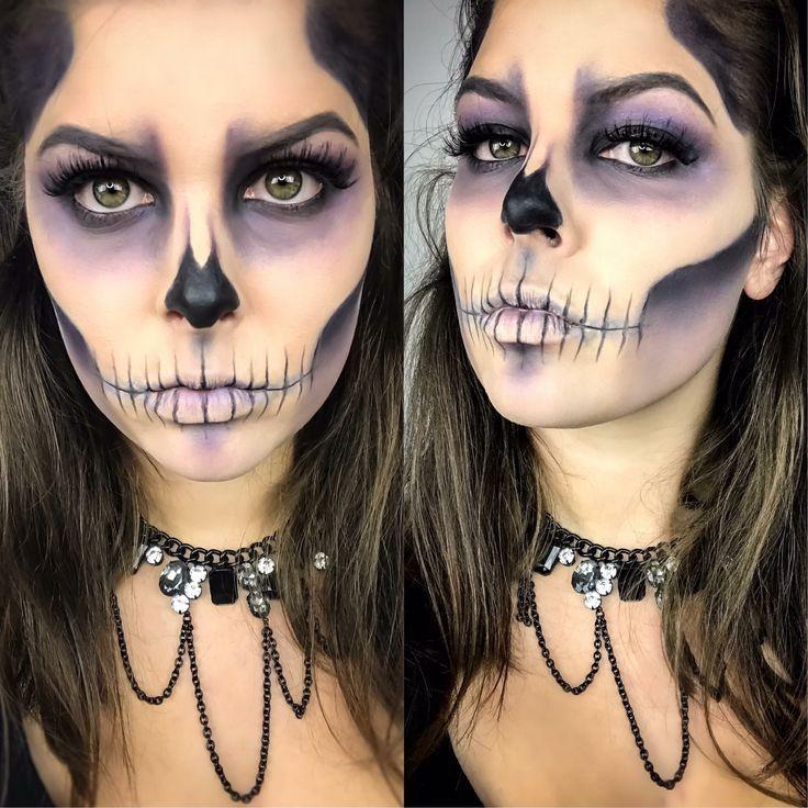 Halloween Make-up-Look mit Younique-Kosmetika. Löse die Halloween-Make-up-Insel ab