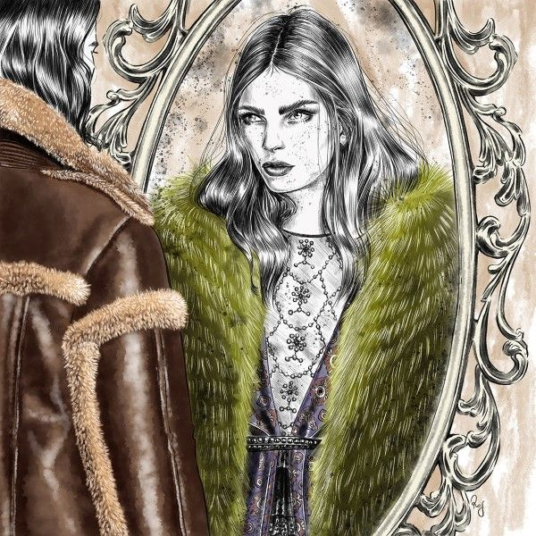 Illustration.Files: Burberry F/W 2016 Fashion Illustration by Rosalba Cafforio