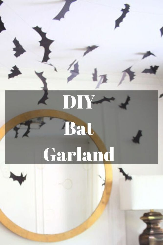 Diy Bat Garland Decoration