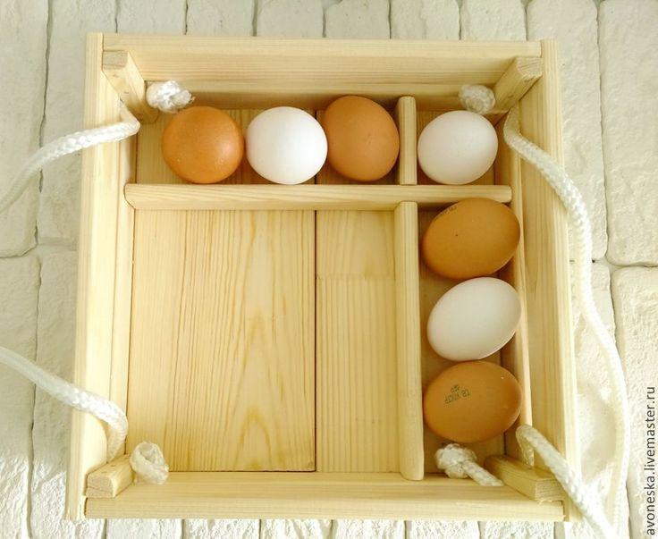 Купить Пасхальный короб, ящик для яиц и кулича. Заготовка - бежевый, белый, натуральный, деревнный, ящик