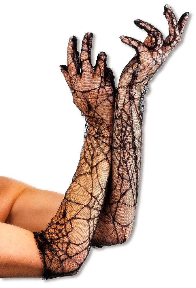 Spider Web Cobweb Gloves Halloween Witch Fancy Dress Costume Accessory Spiderweb in Clothes, Shoes & Accessories, Fancy Dress & Period Costume, Accessories | eBay