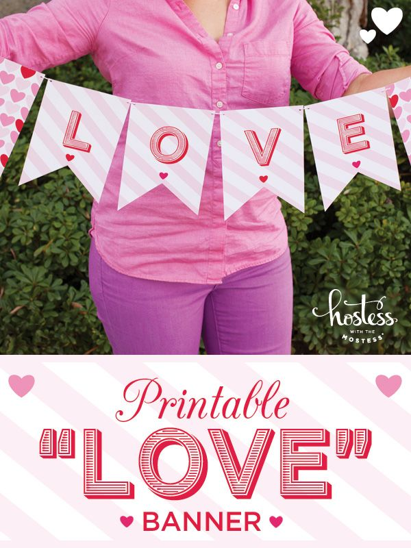 Printable LOVE Banner {+ How to String the Banner}