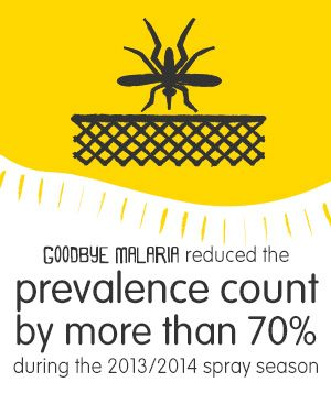 In the Boane province in #Mozambique, Goodbye Malaria reduced the prevalence of #malaria by more than 70% during the 2013/2014 season. Click to see more updated statistics on Goodbye Malaria's website