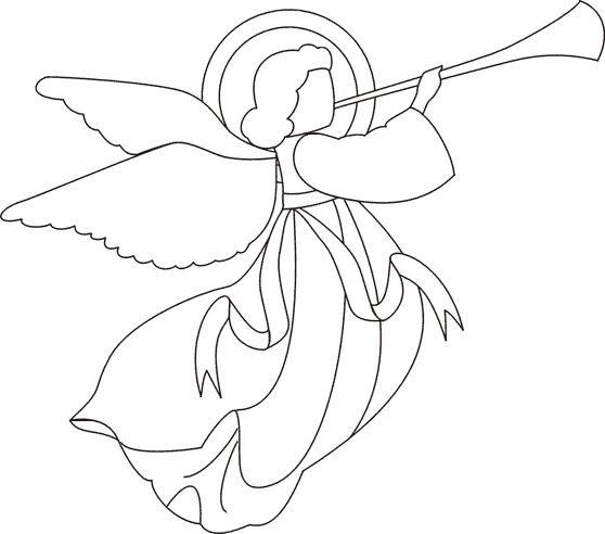 Christmas colouring for children christmas angel 2