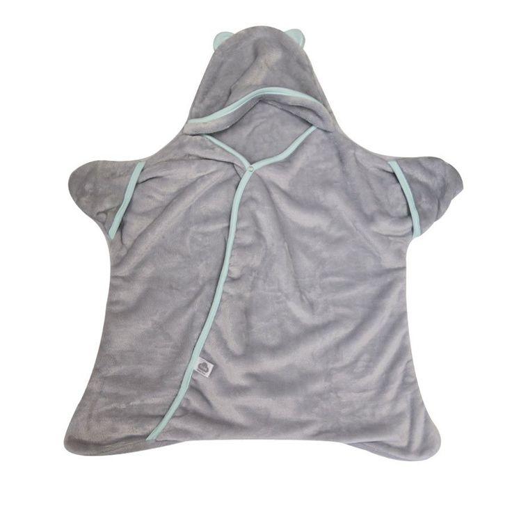 Star Wrap - Grey/Aqua - Sleeping Bag - Baby Belle