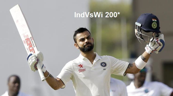 Virat Kohli Hits Maiden Double Century (200*) Helped India To 400 West Indies Vs India #viratkohli #IndvsWi
