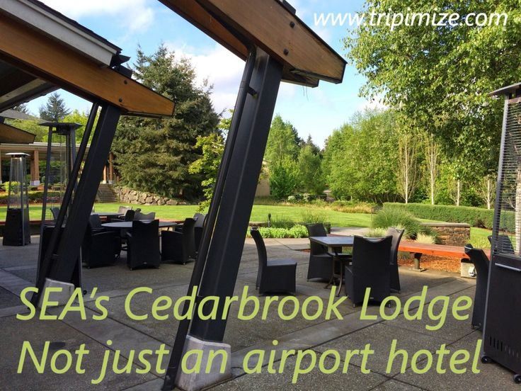 My review of Cedarbrook Lodge, a secret oasis, less than 10 minutes from Seattle's SEA airport.