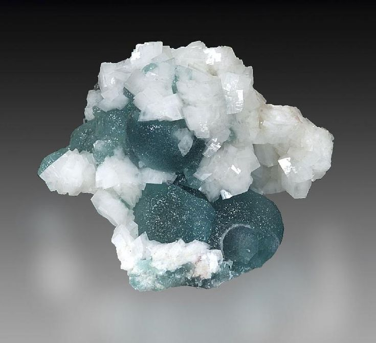 Willemite on Calcite - Tsumeb Mine, Tsumeb, Otjikoto Region, Namibia Size: 5 x 4 x 2 cm