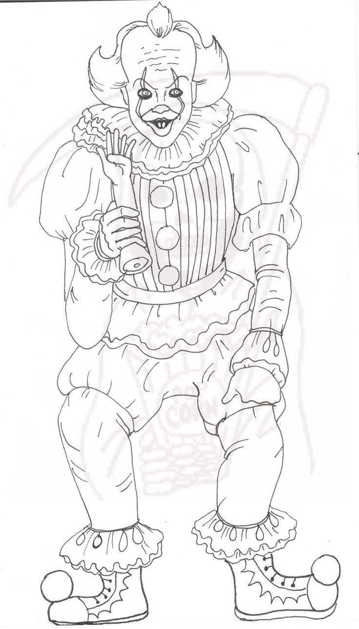Pennywise Coloring Page It Creepy Clown | Etsy in 2020 ...