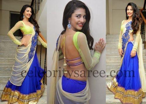 Daksha in Designer Half Saree | Saree Blouse Patterns
