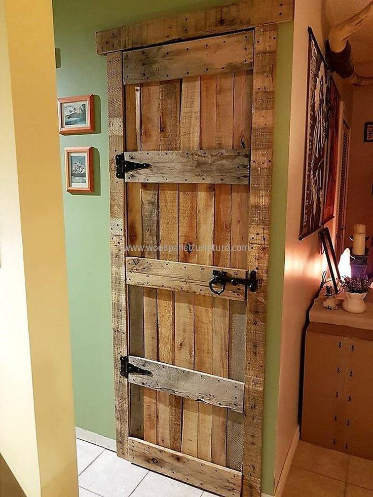 rustic look pallet door