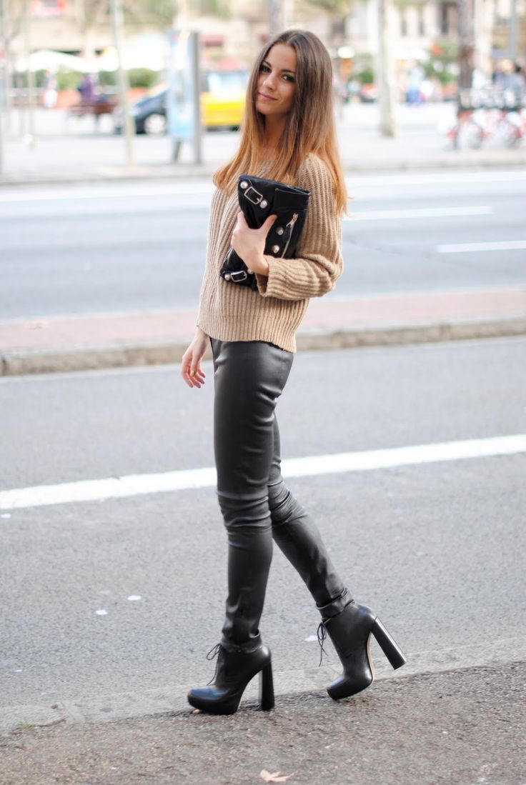 17 best Incredible Leather Leggings with Boots images on Pinterest