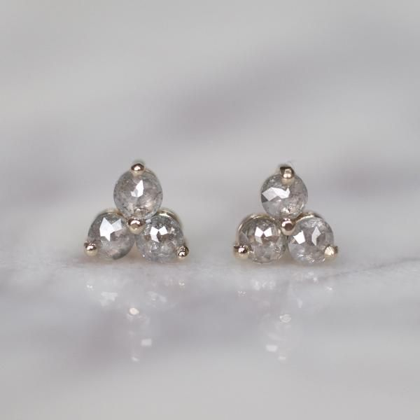 894375b108738 Salt & Pepper Diamond Earrings These amazing earrings feature a ...