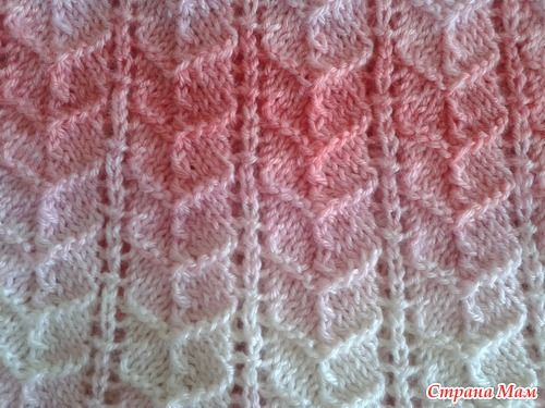 Ribbed Heart Knitting Stitch Pattern