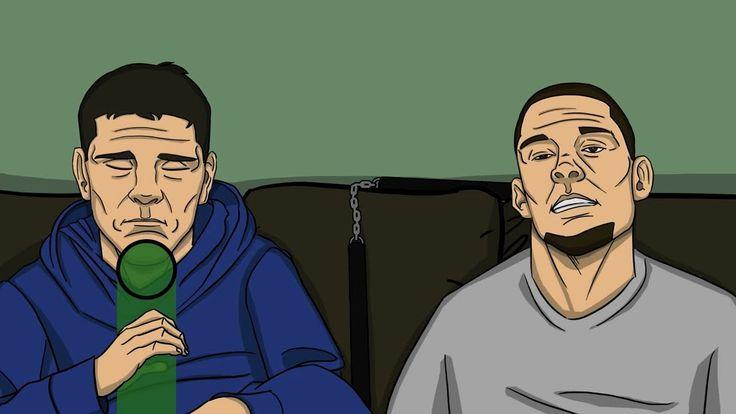 Nick and Nate Diaz Smoking Weed  www.Facebook.com/McDojoLife
