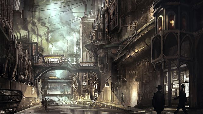 Steampunk Revue: Lantern City Concept Art