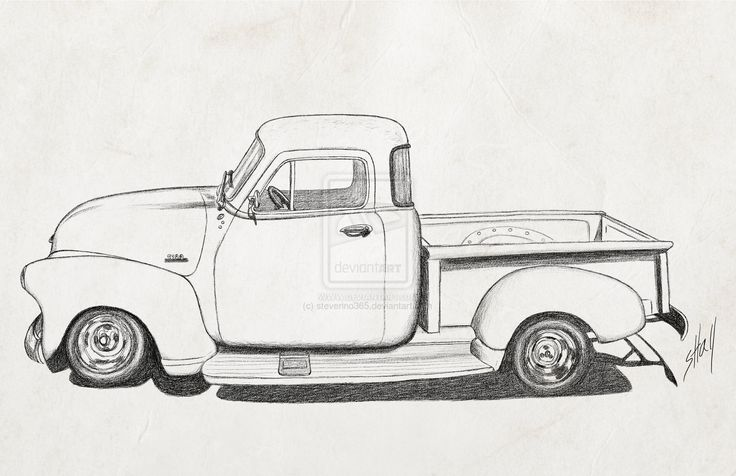cartoon 1954 chevy truck - Google Search