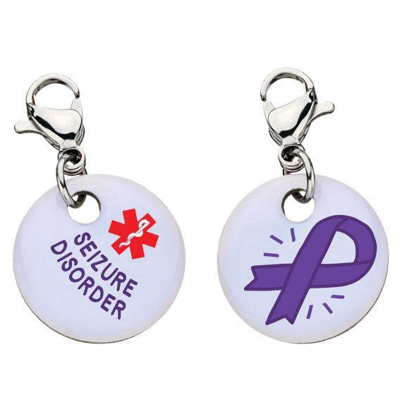 Seizure Disorder Medical Alert Bracelet Charm  Large by MyIDSquare