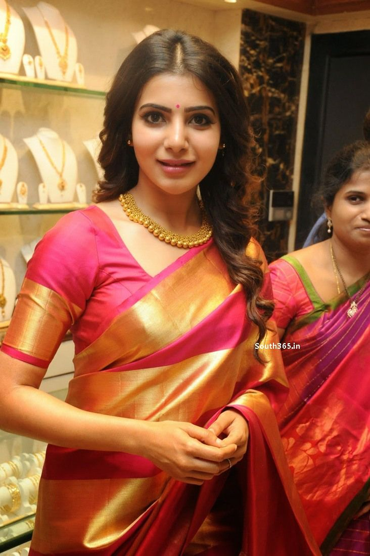 Samantha Ruth Prabhu in Saree At JC Brothers Shopping Mall Launch (3)