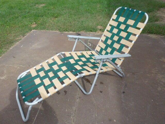 Aluminum Folding Webbed Chaise Lounge