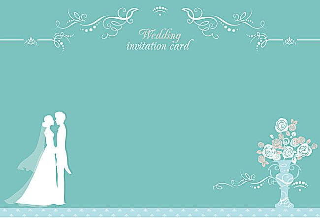 Mint Green New Wedding Invitation Poster Background Material