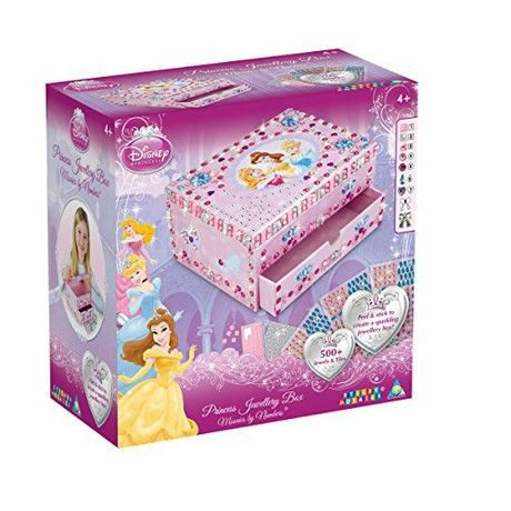 The Orb Factory Sticky Mosaics Disney Princess Jewellery Box