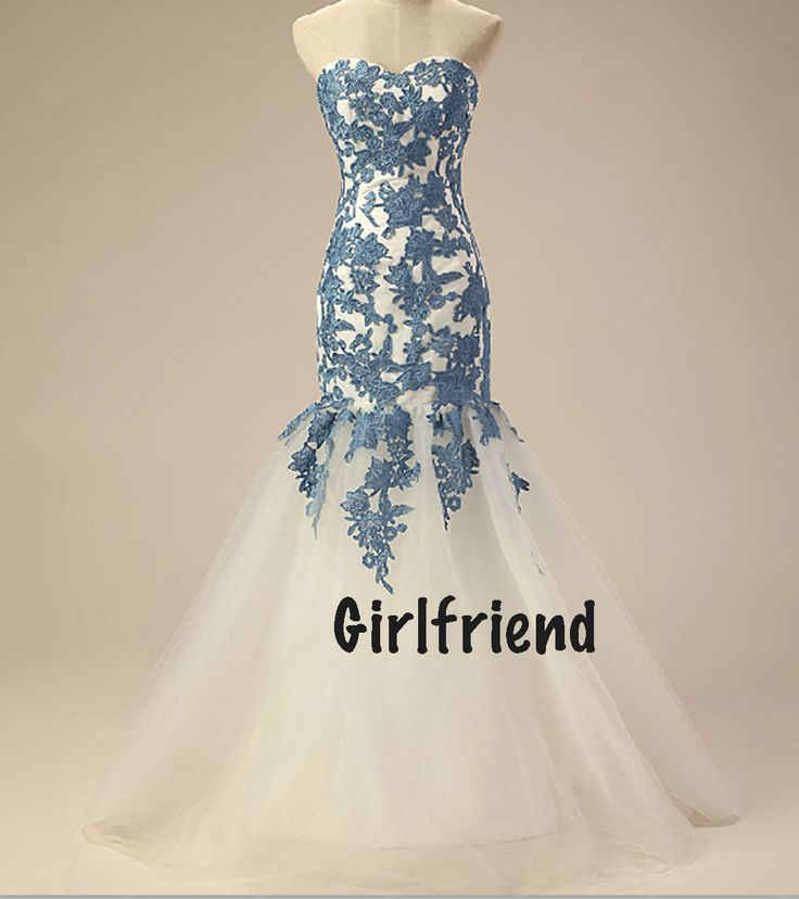 blue lace wedding dress - Google Search
