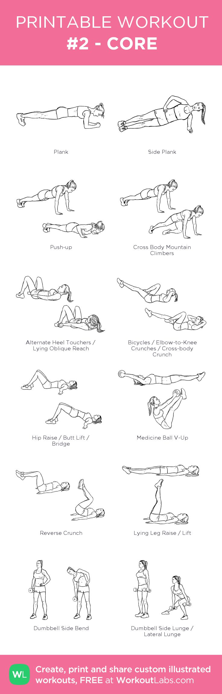 #2 - CORE:my visual workout created at WorkoutLabs.com • Click through to customize and download as a FREE PDF! #customworkout
