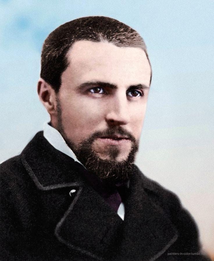 Gustave Caillebotte (1848-1894) Pintor francés, un miembro y patrón del grupo de artistas conocidos como impresionistas.  Foto restaurada y coloreada por los pintores-en color