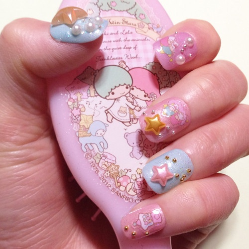 One Piece Nail Art & Cute Japanese Girls in Shibuya |Cute Japanese Nail Art