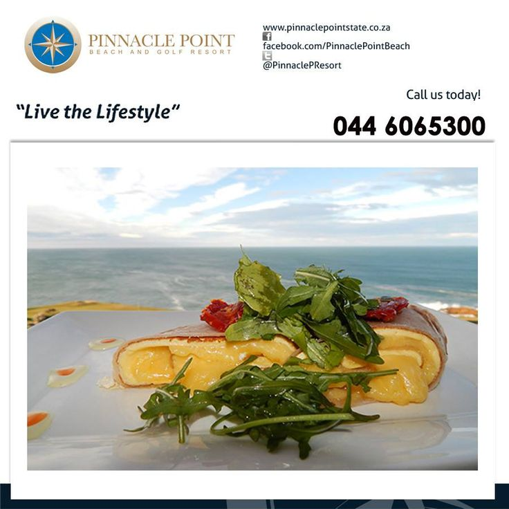 Visit The Pinnacle Point Beach  Golf Resort Clubhouse Restaurant for breakfast, lunch or supper and explore our delicious menu whilst being surrounded by beautiful greens, the vista and blue waters of the Indian Ocean. Make your booking at 044 693 3438. #cuisine #lifestyle #destination