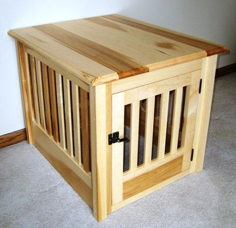 Small Wood Dog Crate Furniture Custom Made To By Huntridgeranch Home Decoration Pinterest