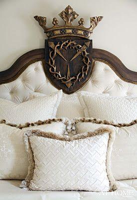 crown headboard. ZsaZsa Bellagio: Interior Design, Ideas, Headboards, Queen, Bedroom Design, Bedrooms, Family Crest, Sweet Dream