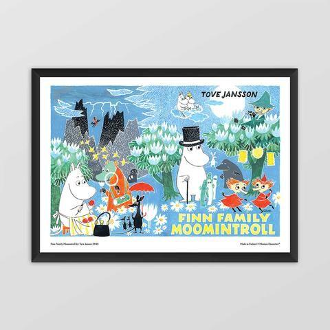 Moomin poster - Finn Family Moomintroll (landscape)