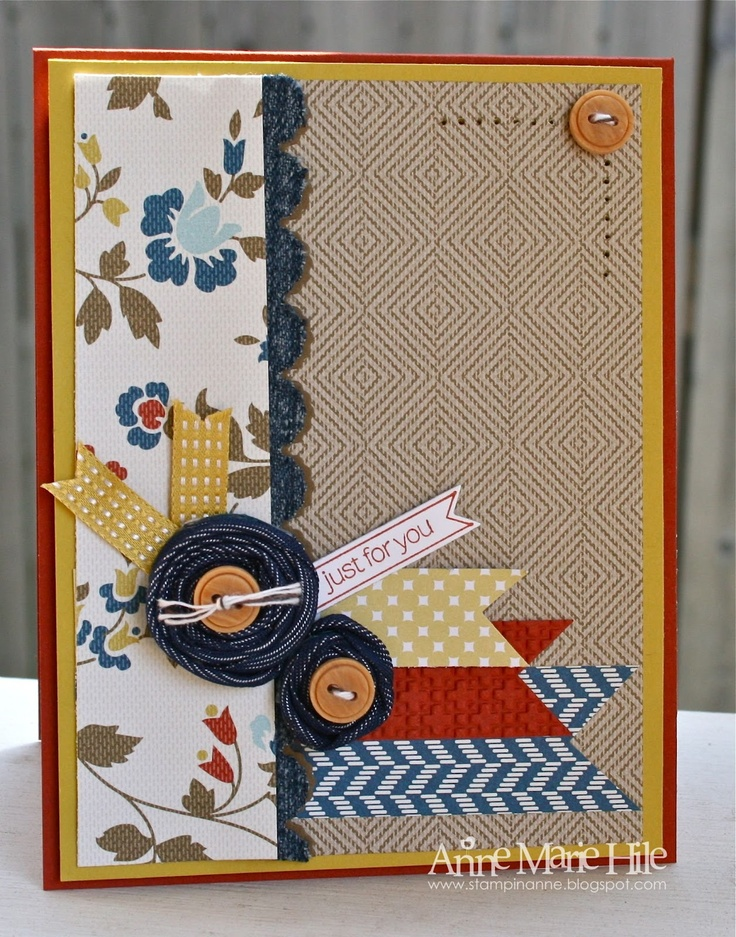 Stampin' Anne: Dressed in Denim Recipe Challenge for Our Creative Corner