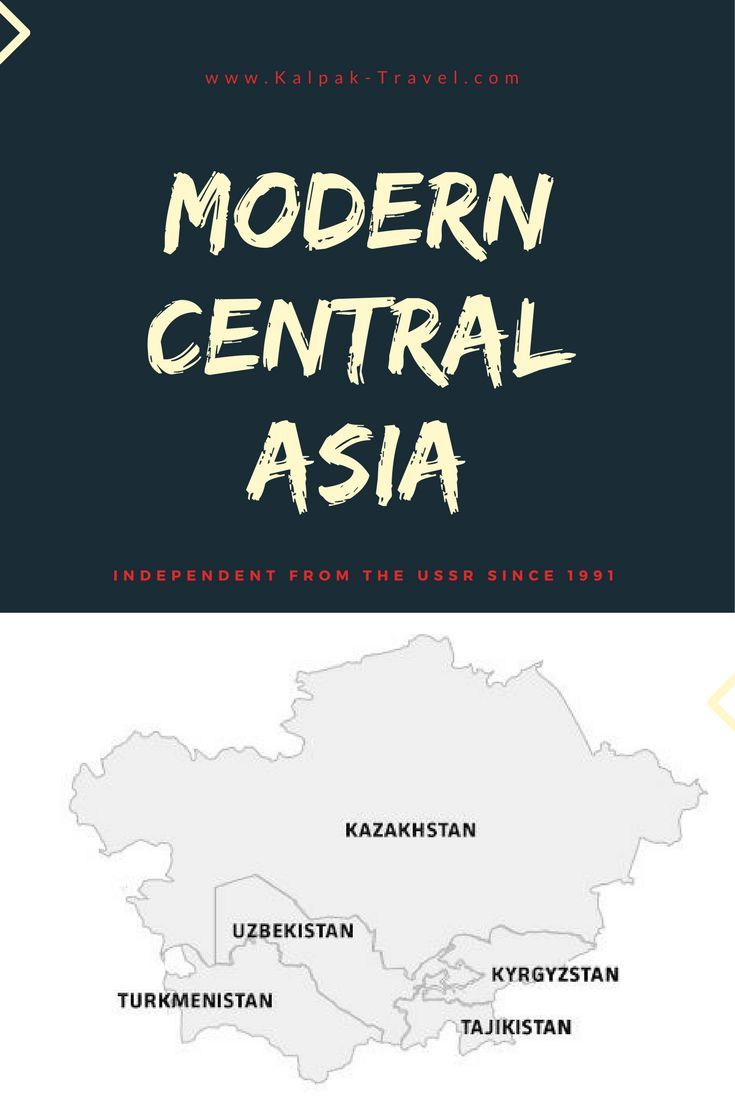 Modern Central Asia  #map #travel #centralasia
