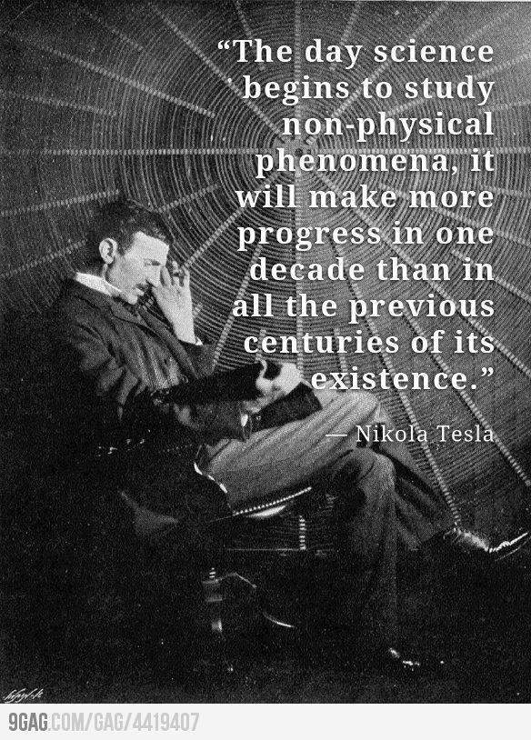 What Nikolas Tesla said