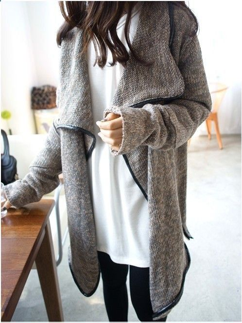 Sweater coat.
