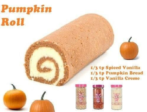 Pink Zebra Recipes- Pumpkin Roll.  Featuring: Spiced Vanilla; Pumpkin Bread and Vanilla Creme