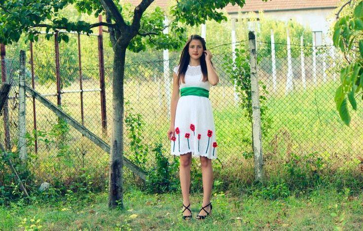 Crochet dress-Rochie crosetata