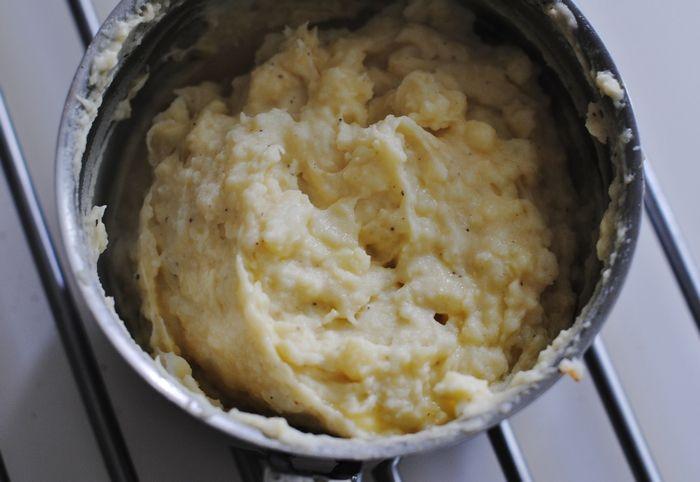 (Kremfylt kylling med rød pesto) Oppskrift på potetpuré (martheborge)