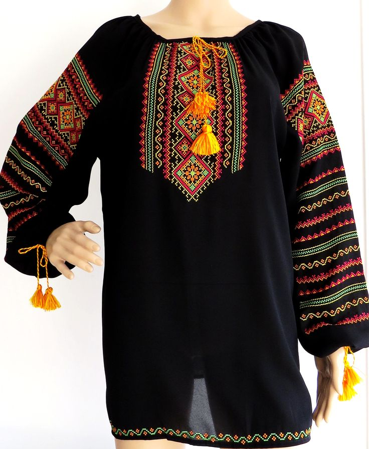 Long Sleeve Embroidered Ladies Blouse 'Polonyna'