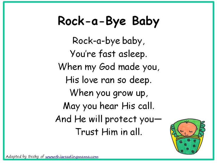 Rockabye Baby Christian Nursery Rhyme