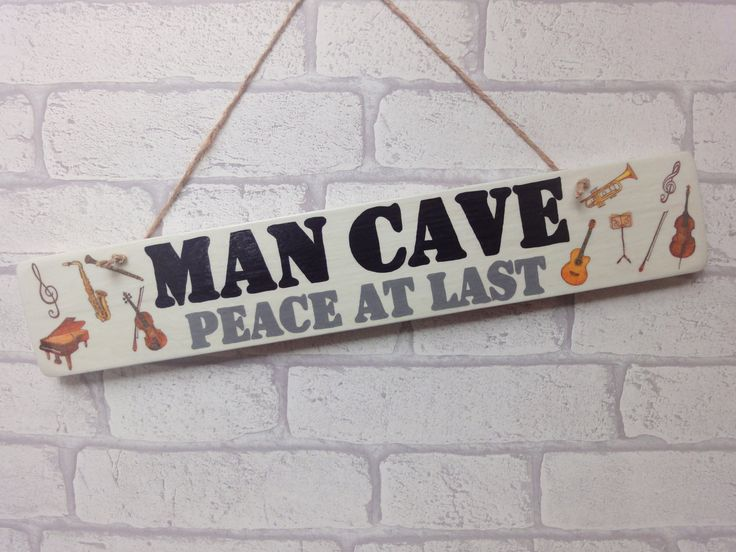 Musician Man Cave Sign | Gift for Him | Gift for Classical Musician | Gift for Husband | Music Den Decoration | Gift for Grandad by AmeliesCrafthouse on Etsy