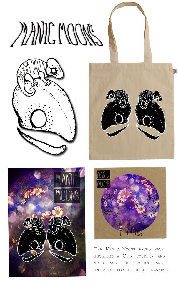 Band Merchandise for Manic Moons