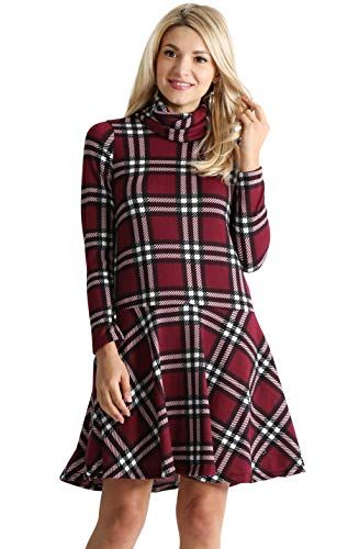 508133c59be New Simlu Womens Long Sleeve Winter Cowl Neck Sweater Dress Reg and Plus  Size- Made in USA Women s Fashion Clothing online.   34.99  likeprodress  Fashion is ...