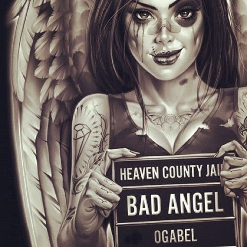 """""""bad angel"""" ...reminds me of someone I used to know.."""