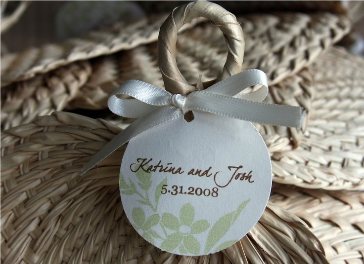 Personalized Hand Fans With Tags