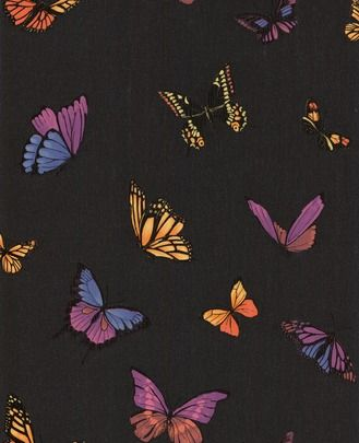 Butterfly Black wallpaper