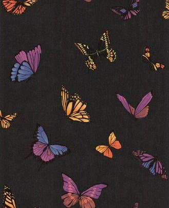 Butterfly Black wallpaper